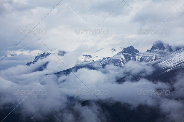 Canadian mountains - Stock Photo - Images