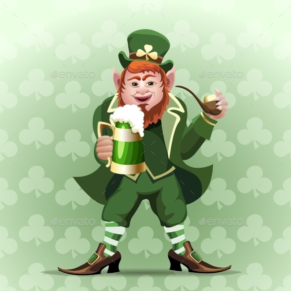 GraphicRiver Smiling Leprechaun 9957057