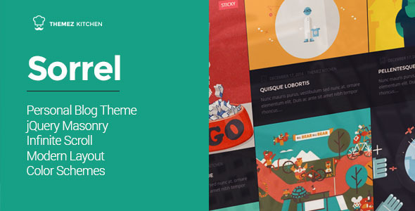 ThemeForest Sorrel Modern and Responsive WordPress Theme 9870363