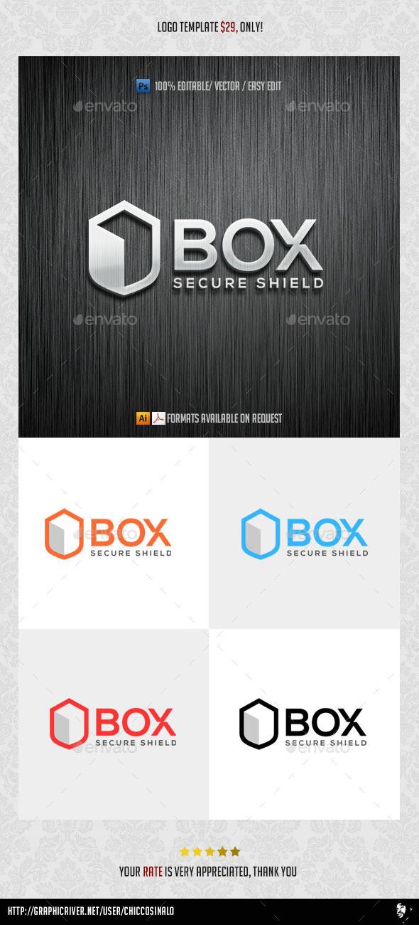 Box Shield Logo Template