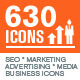 Set of Modern SEO Services Icons - GraphicRiver Item for Sale