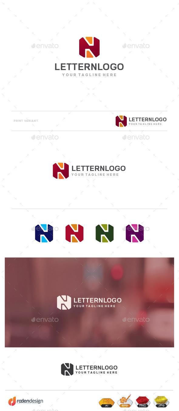GraphicRiver N Letter Logo 9957493