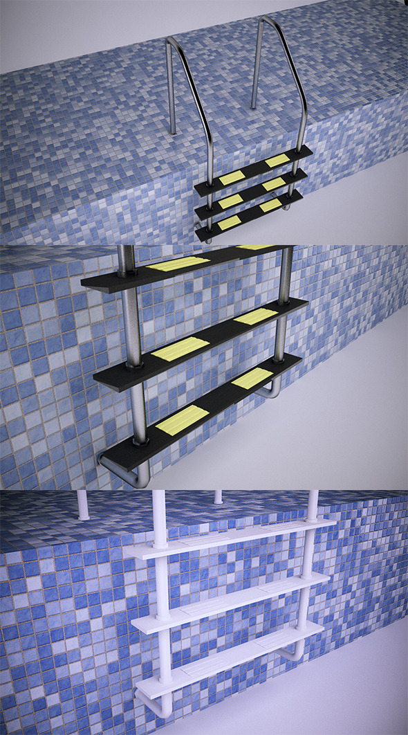 3DOcean Pool Ladder VrayC4D 9957507