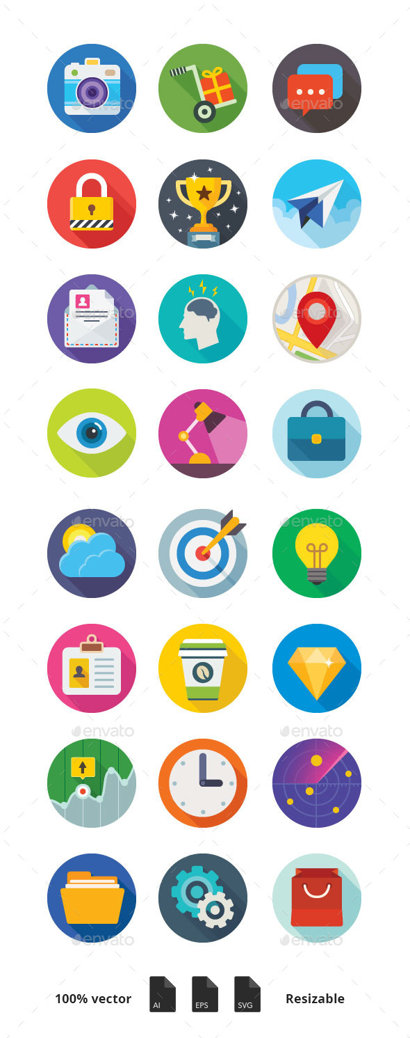 GraphicRiver Luchesa Flat Icons 9957513