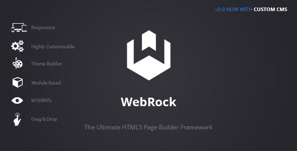 WebRock - Page Builder Framework for HTML5 - CodeCanyon Item for Sale