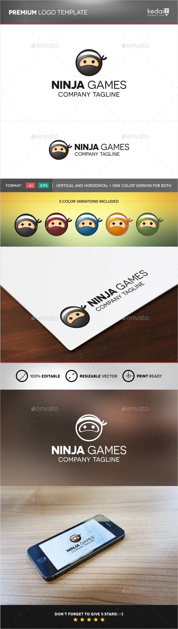 GraphicRiver Ninja Games 9957664