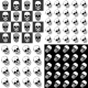 Patterns with Skulls - GraphicRiver Item for Sale