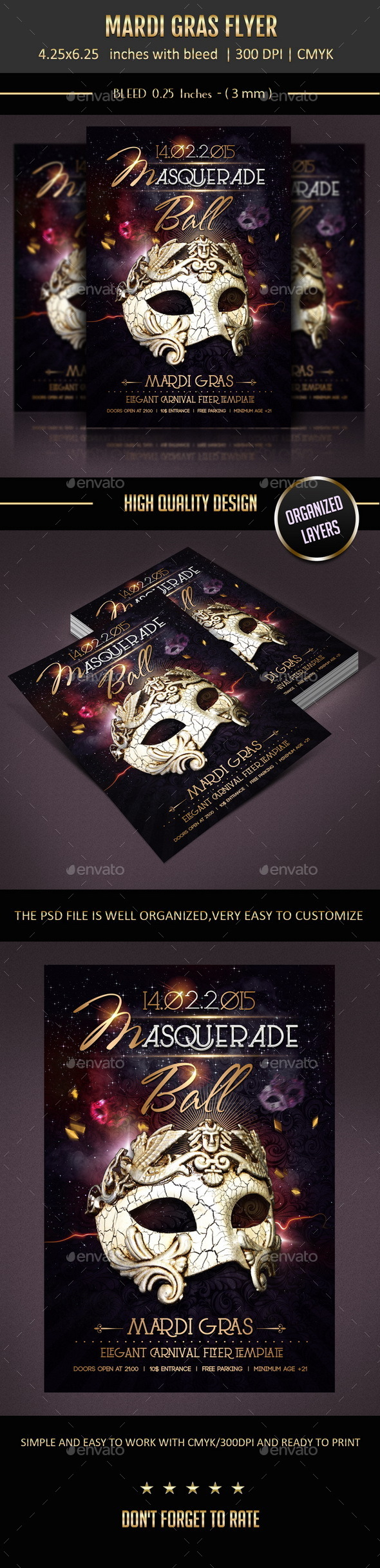 GraphicRiver Mardi Gras Flyer 9957935
