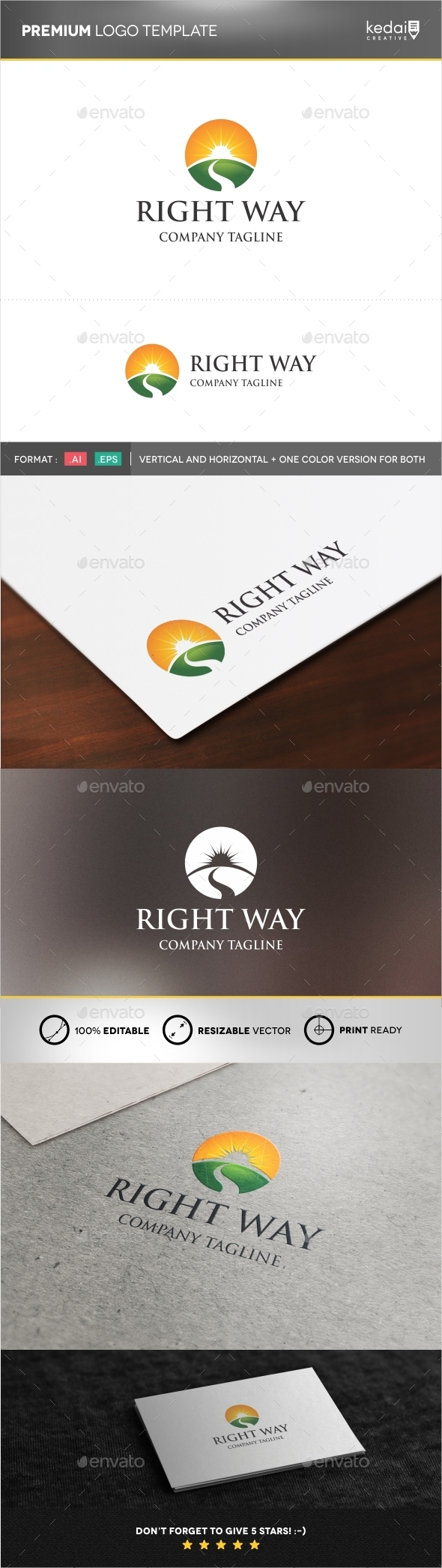 GraphicRiver Right Way 9958037