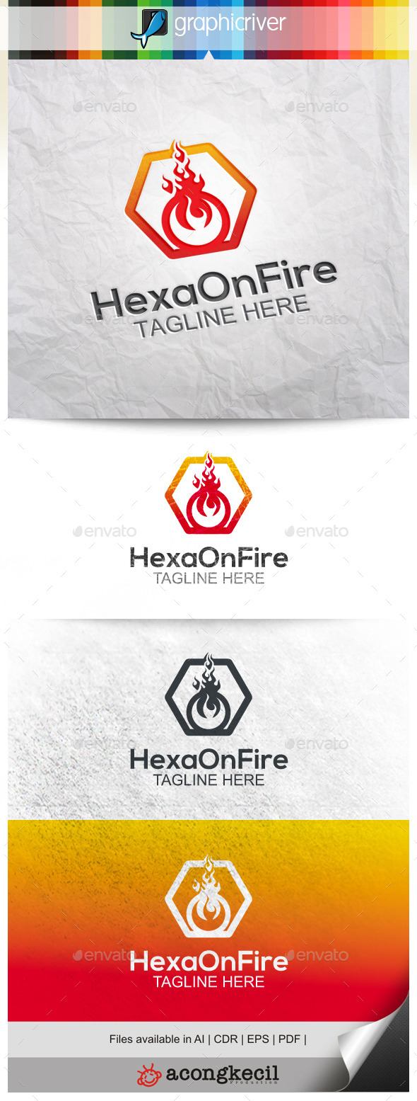 GraphicRiver Hexa On Fire 9958152
