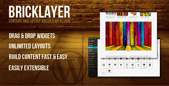 Bricklayer Content Builder WP Plugin