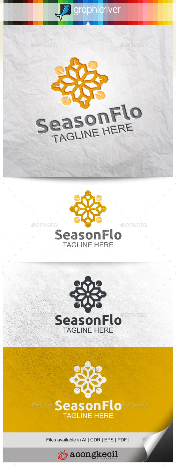 GraphicRiver Season Flower V.4 9958212