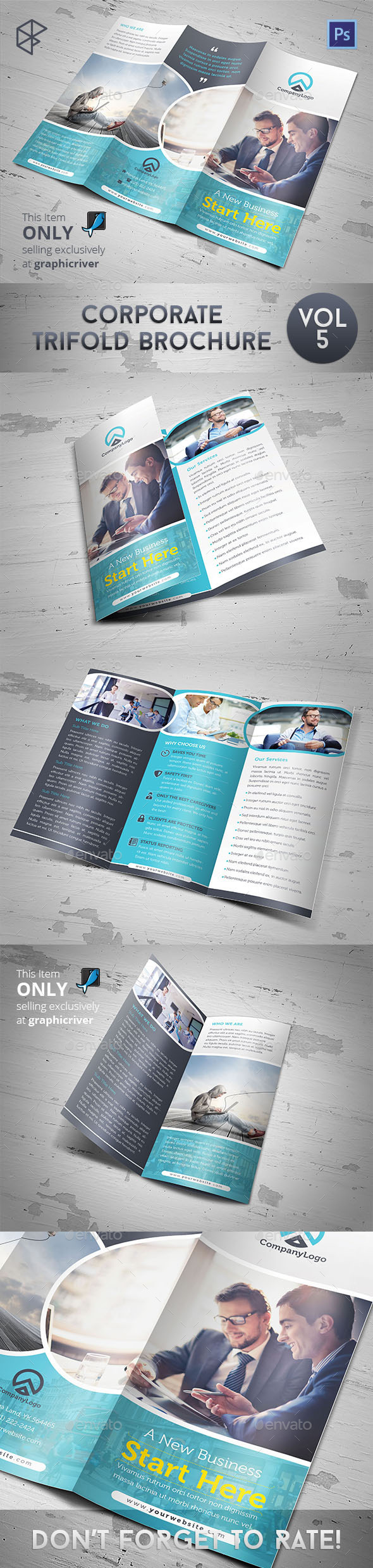GraphicRiver Corporate Trifold Brochure Vol 5 9955621