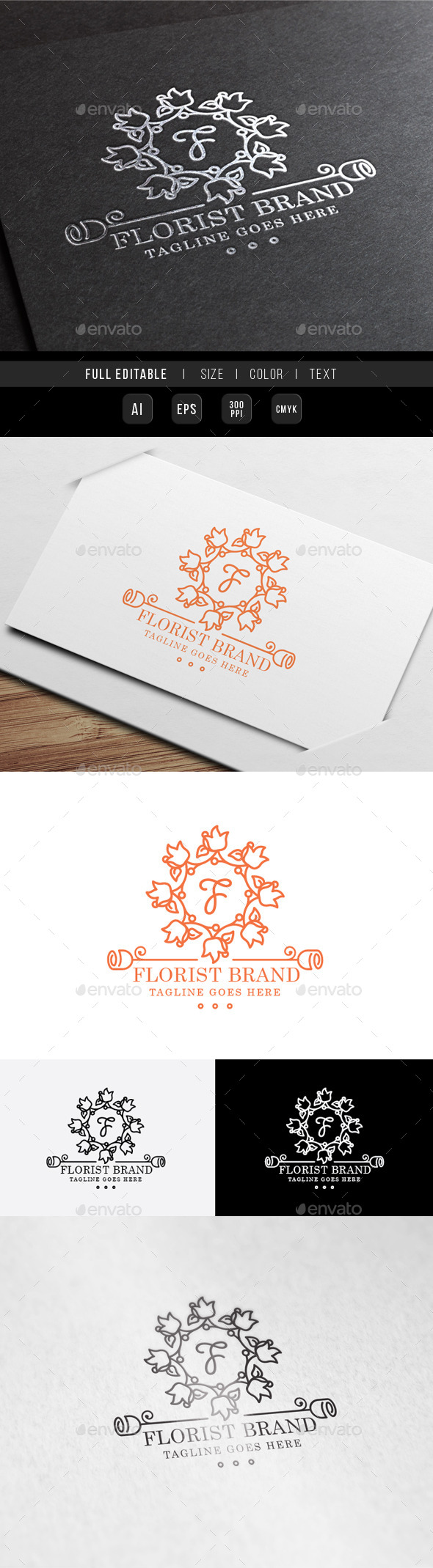 GraphicRiver Florist Wedding Logo 9959177
