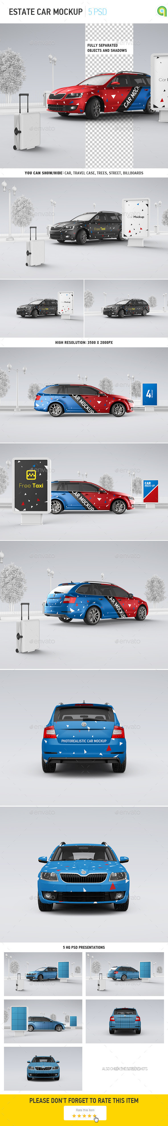 Car Mockup | Billboard Mock-up