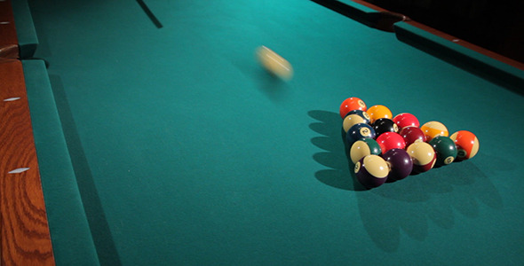 Breaking Pool Table Balls 1