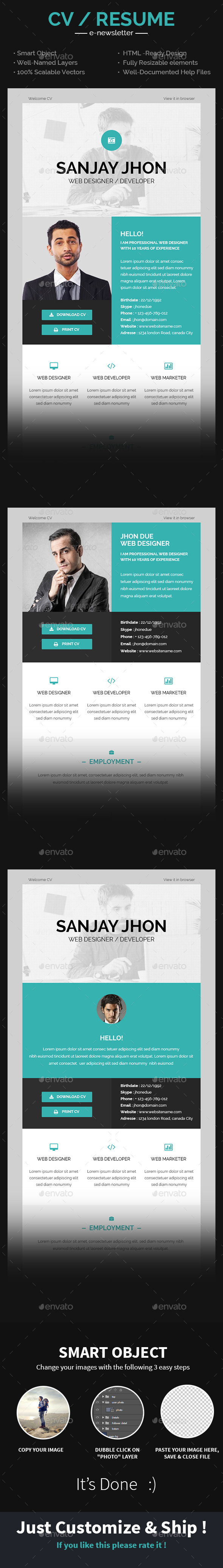 GraphicRiver CV Email Template 9959673