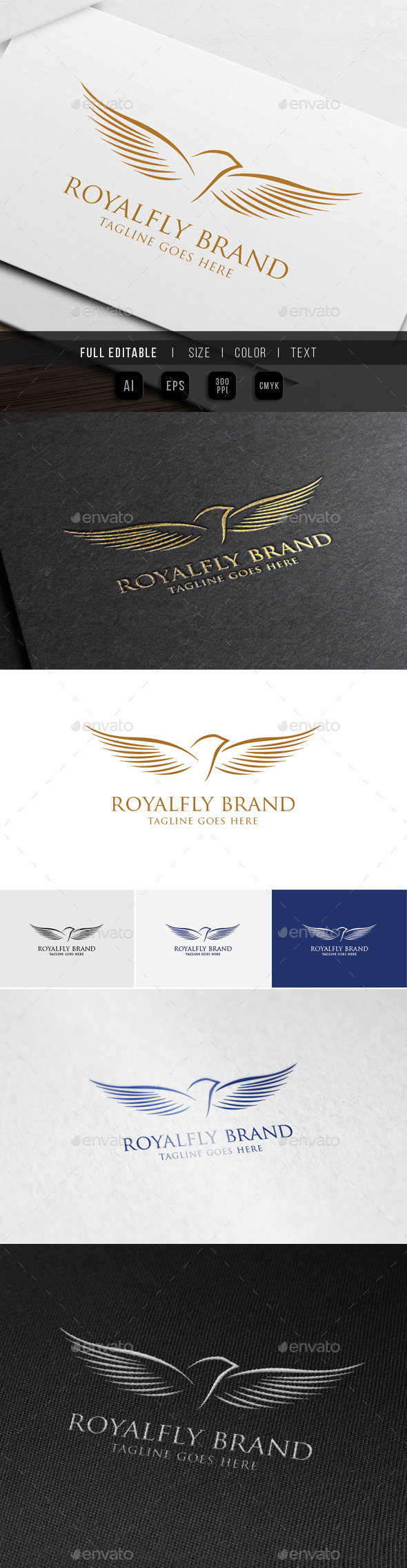 GraphicRiver Royal Luxury Fly Bird 9959745