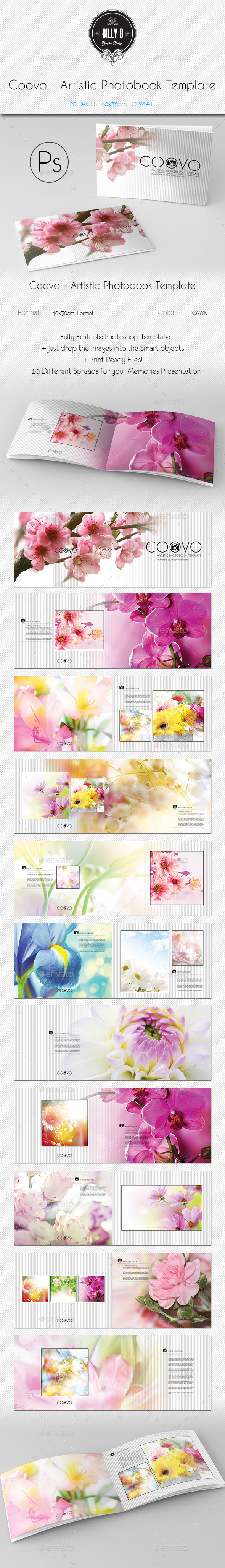 GraphicRiver Coovo Artistic Photobook Template 9960106