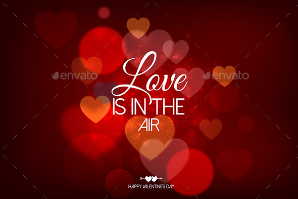 GraphicRiver Happy Valentine s Day Card with Hearts 9960162