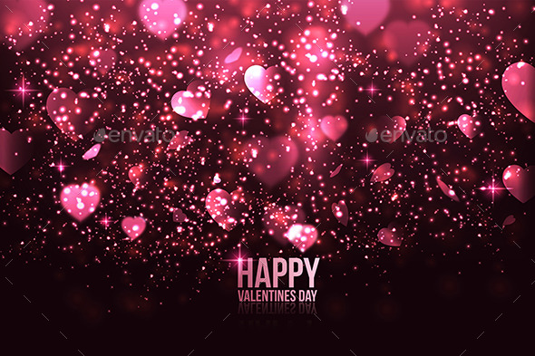 GraphicRiver Happy Valentine s Day Card with Hearts 9960189