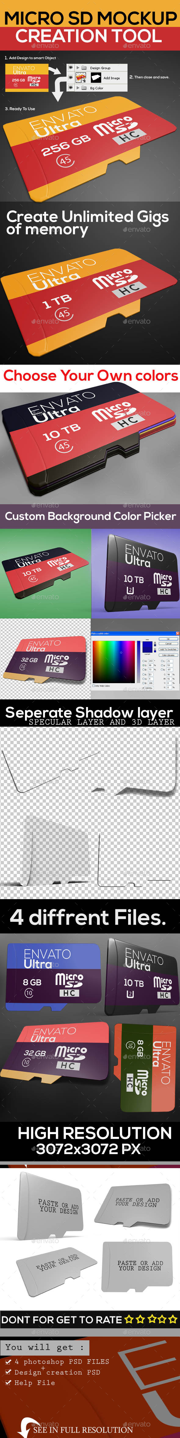 GraphicRiver Micro Sd Memory Card Mock Up 9960247