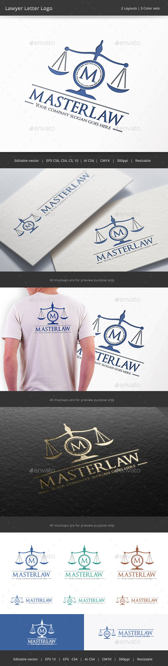 GraphicRiver Lawyer Letter Logo 9960281