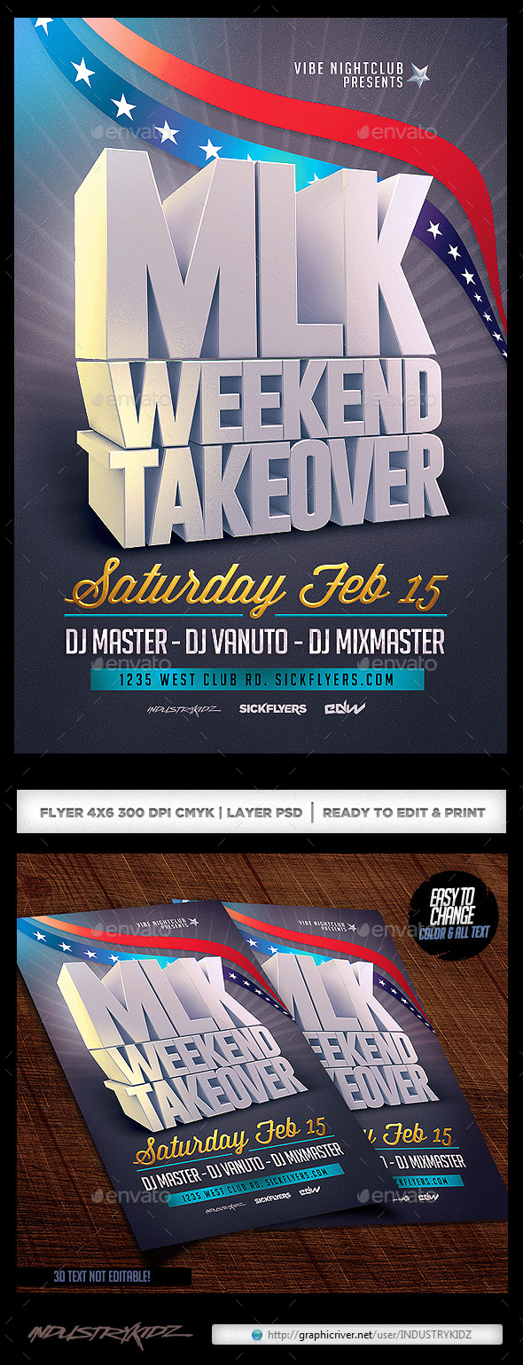 GraphicRiver MLK Weekend Flyer Template V2 9960289