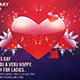 Valentines Day Postcard Print Templates  - GraphicRiver Item for Sale