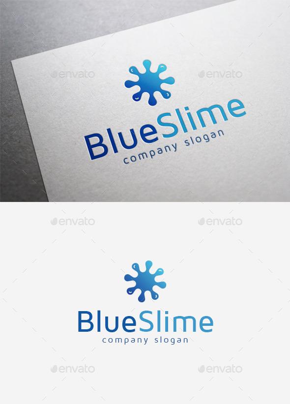 GraphicRiver Blue Slime Logo 9961045
