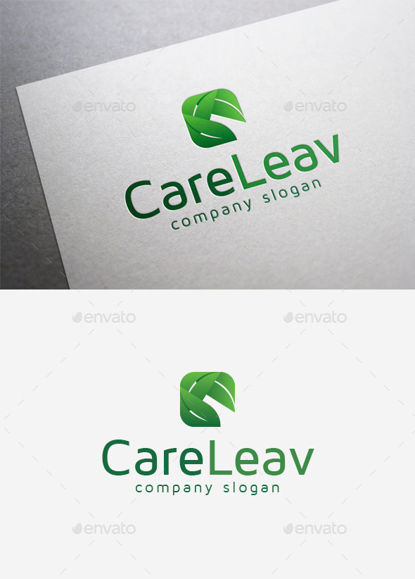 GraphicRiver Care Leav Logo 9961129