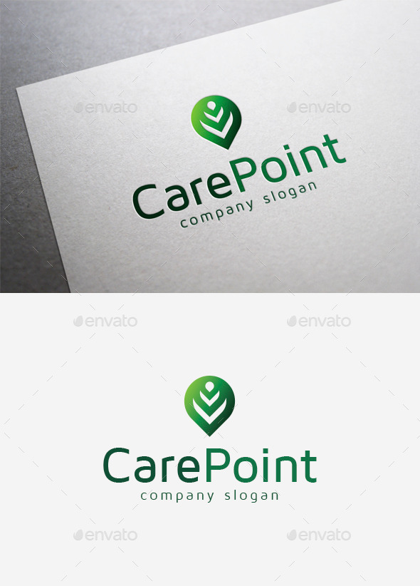 GraphicRiver Care Point Logo 9961154