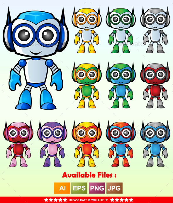 GraphicRiver Robot Mascot 1 9961165