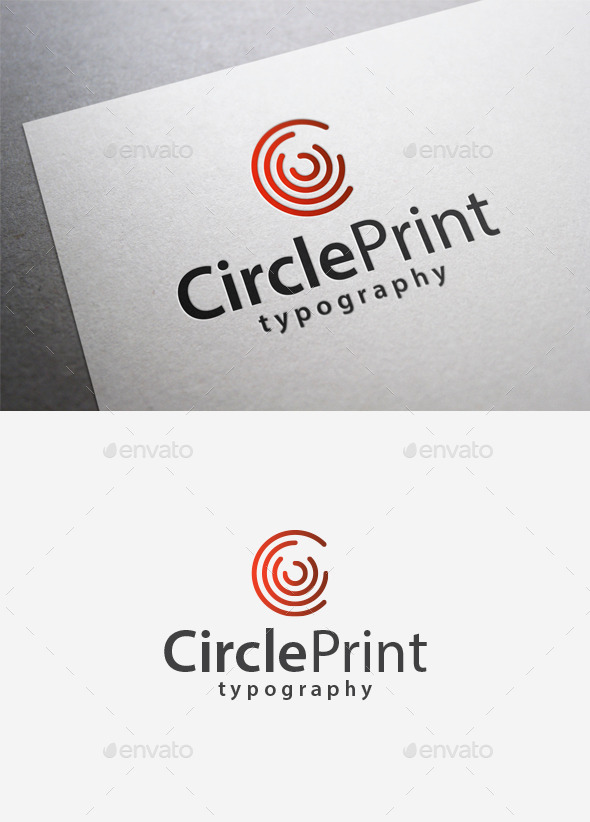 GraphicRiver Circle Print Logo 9961263