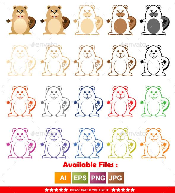 GraphicRiver Beaver Mascot 9961271