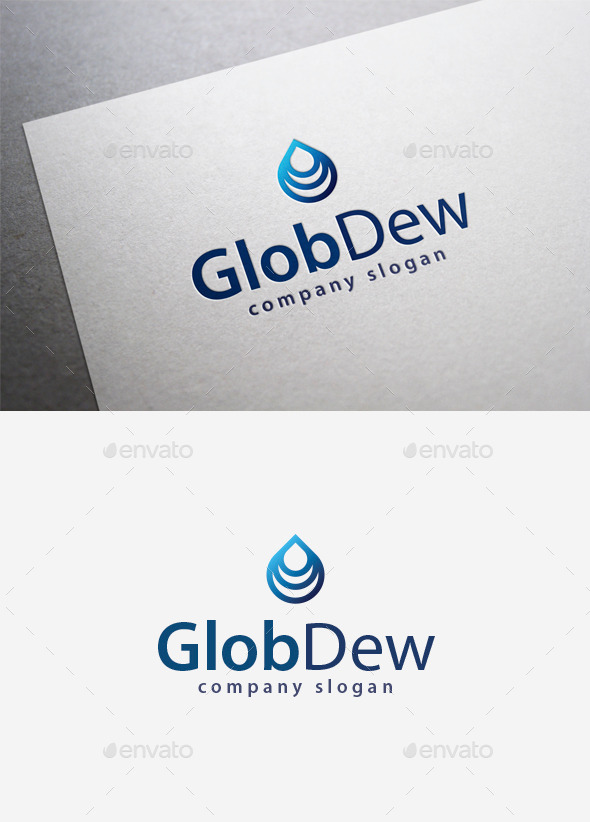 GraphicRiver Glob Dew Logo 9961359