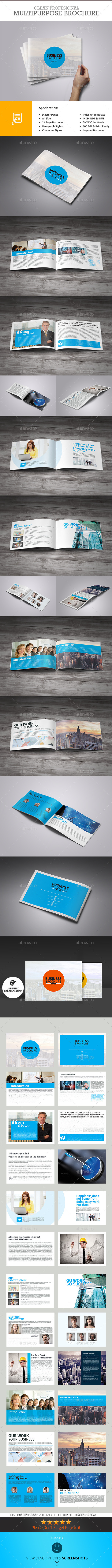 GraphicRiver Business Plan 24 Pages Business Brochure 9961371