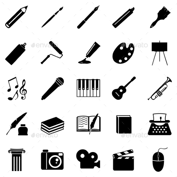 GraphicRiver Set of Art Icons 9961373