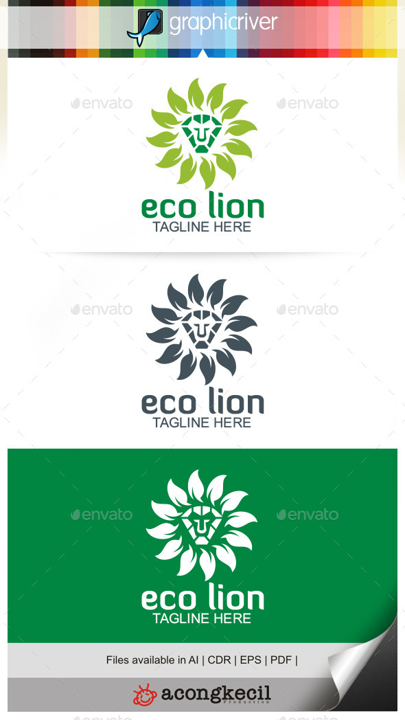 GraphicRiver Eco Lion 9961395