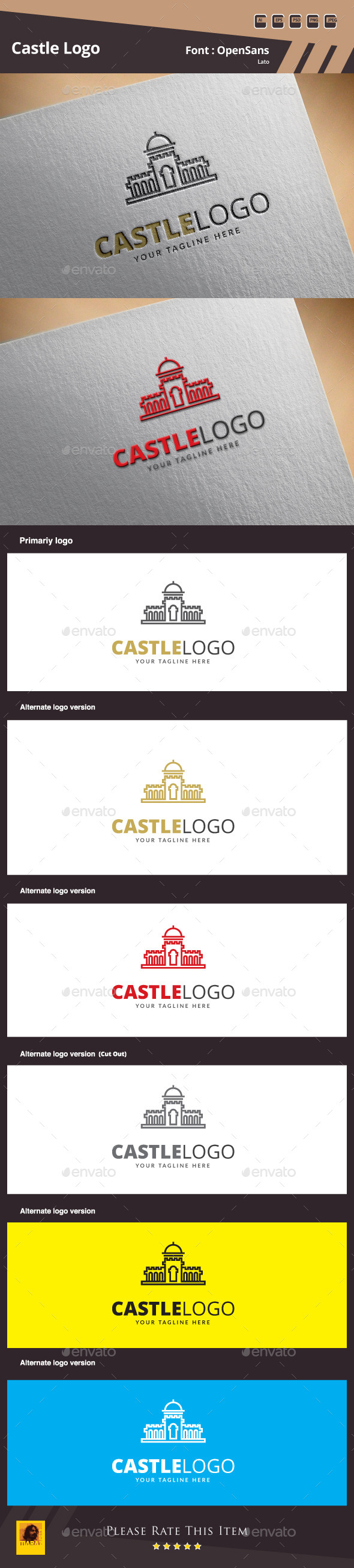 GraphicRiver Castle Logo Template 9961403