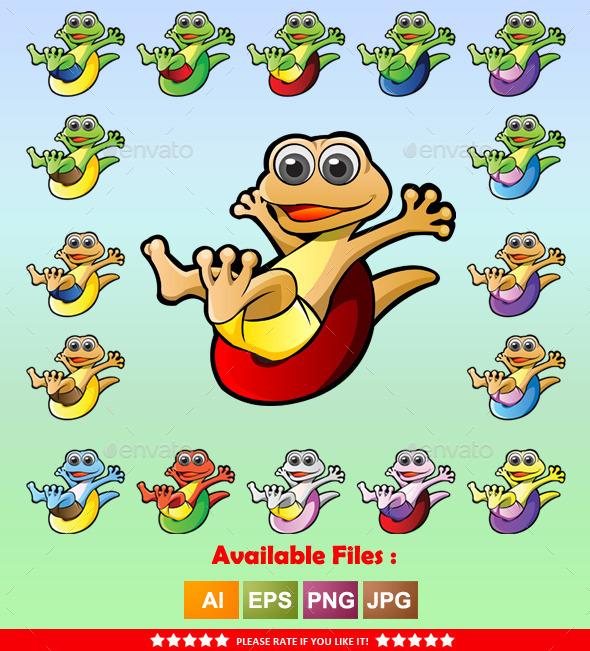 GraphicRiver Gecko Mascot 9961409
