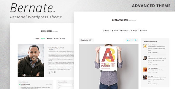 Bernate Personal WordPress Theme