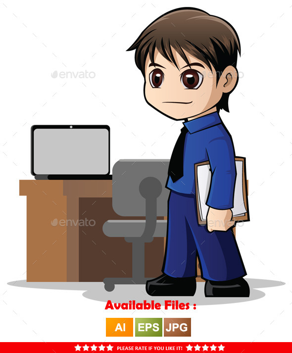 GraphicRiver Businessman Character 9961424