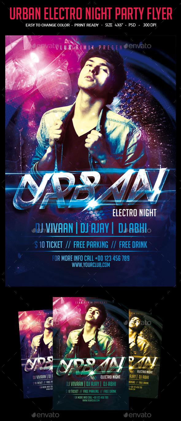 Urban Electro Night Flyer Template