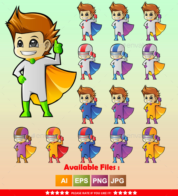 GraphicRiver Superhero Mascot 2 9961449