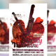 Bloody Valentine Party Flyer Template - GraphicRiver Item for Sale