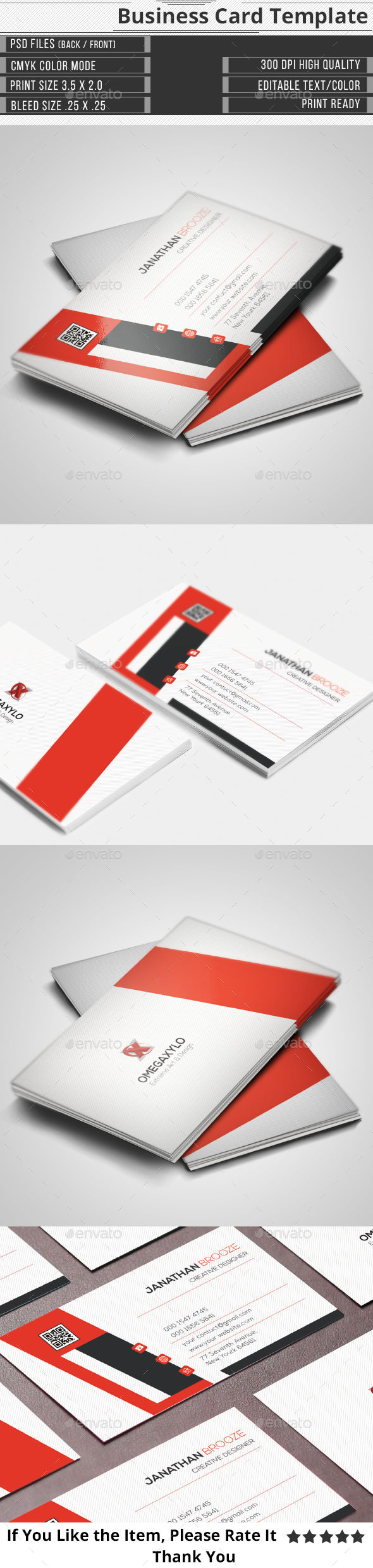 GraphicRiver Elegant Corporate Business Card 9961457
