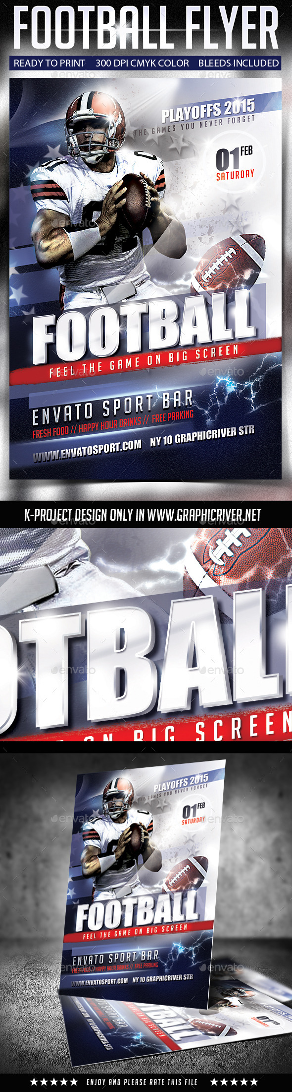 GraphicRiver Football Flyer 9961713