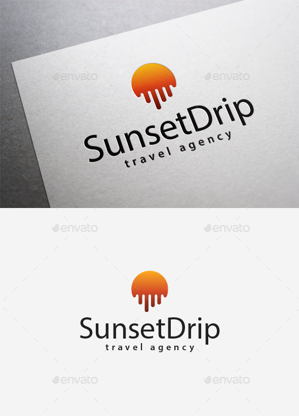 GraphicRiver Sunset Drip Logo 9961758