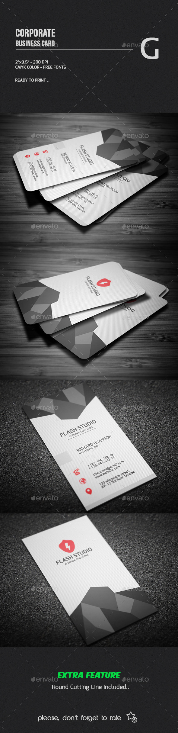 GraphicRiver Corporate Business Card 9961764
